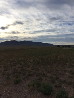 Scenery in Rachel, NV at the finish line.